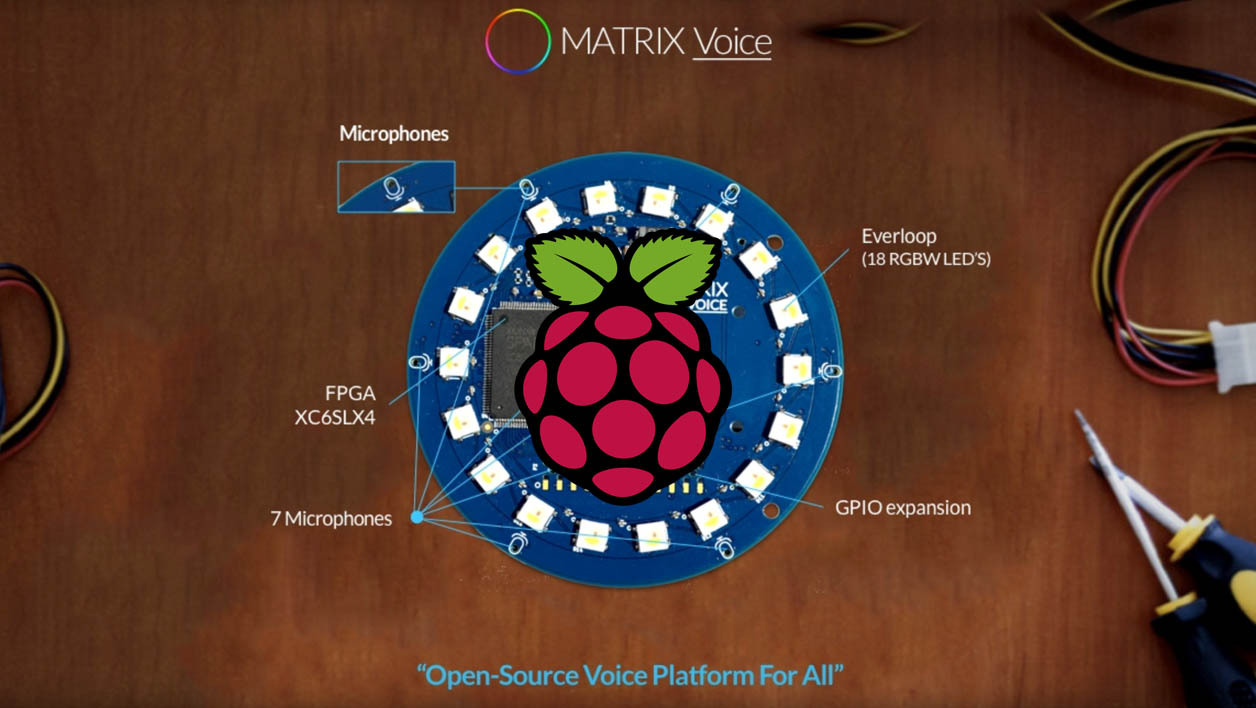 Matrix Voice, l'alternative open source à Amazon Alexa qui s'appuie sur un Raspberry Pi