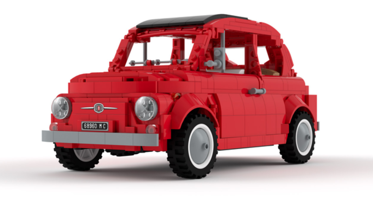 la fiat 500 bient t en lego. Black Bedroom Furniture Sets. Home Design Ideas