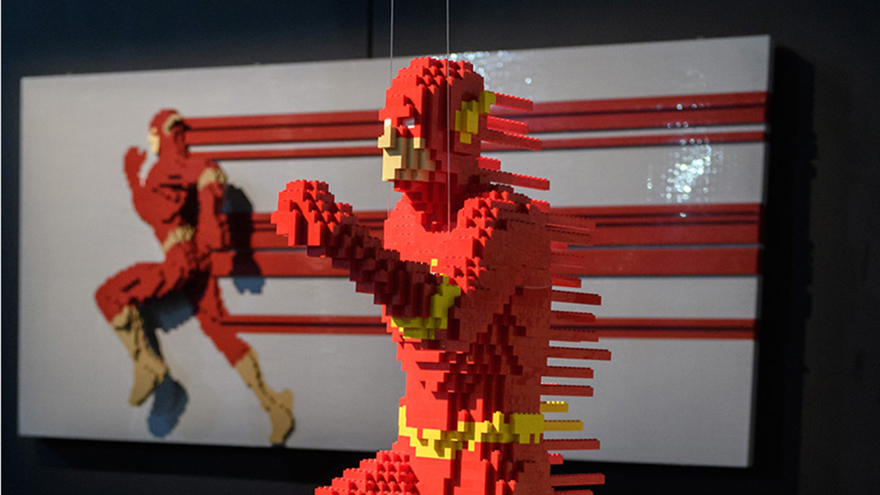 the art of the bricks dc super heroes une exposition lego paris. Black Bedroom Furniture Sets. Home Design Ideas
