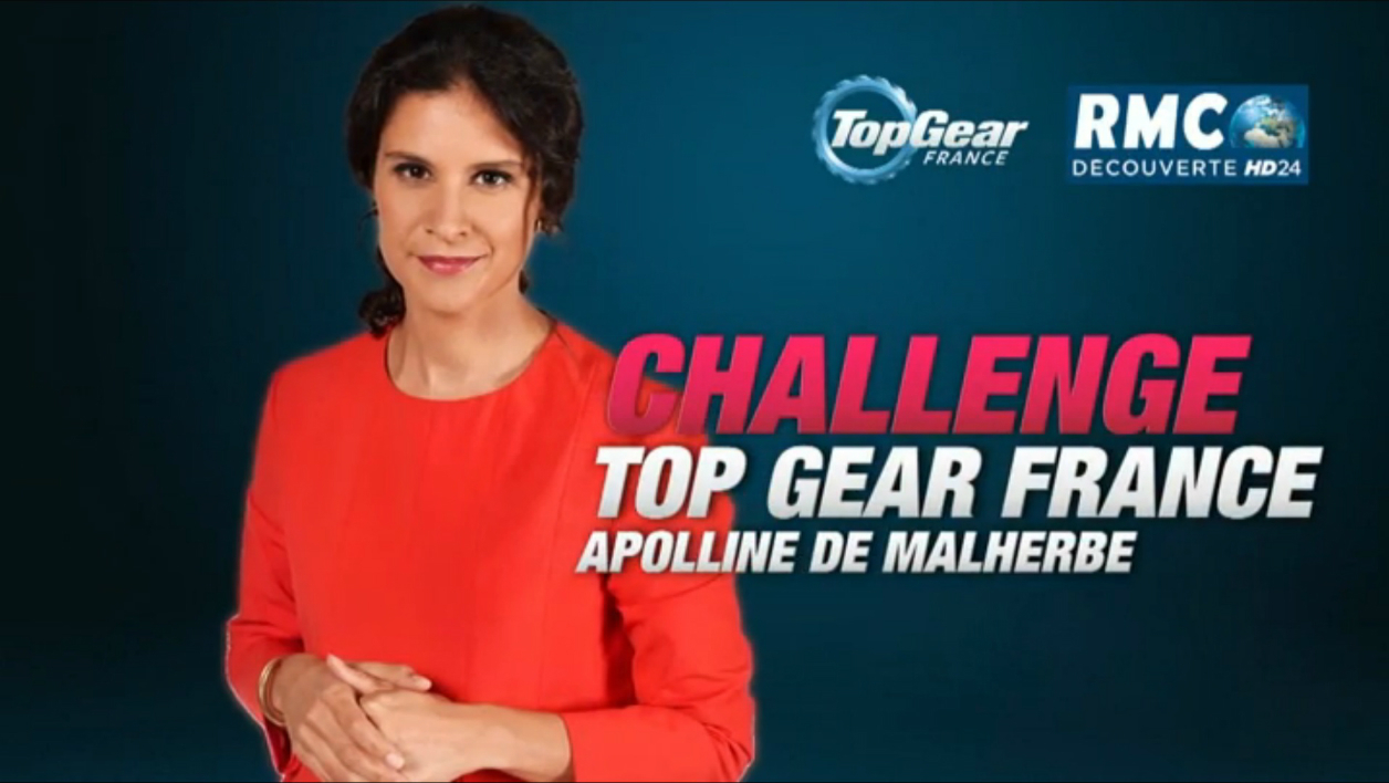 apolline de malherbe dans les in dits de top gear france ce mercredi. Black Bedroom Furniture Sets. Home Design Ideas