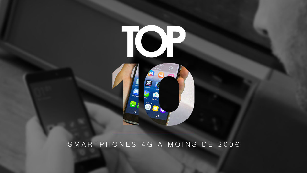 top 10 les meilleurs smartphones 4g moins de 200 euros mars 2018. Black Bedroom Furniture Sets. Home Design Ideas