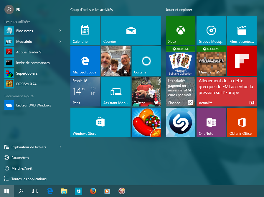 Windows 10 ma trisez le nouveau menu d marrer - Personnaliser son bureau windows 7 ...