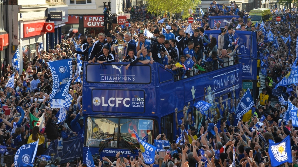 Leicester fête ses champions
