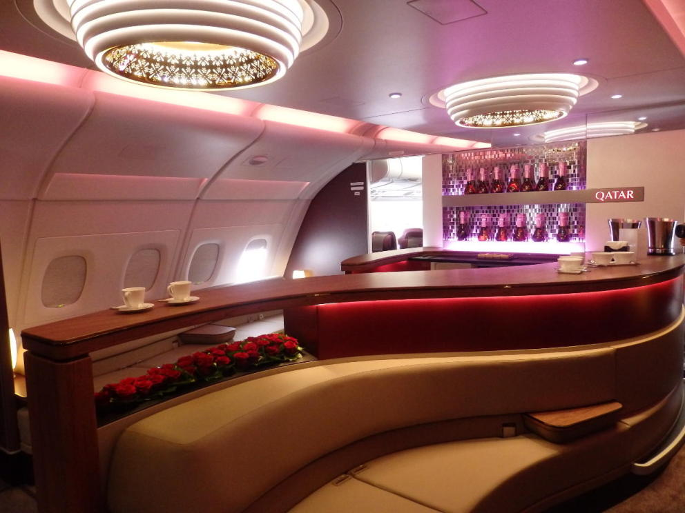 Bourget 2015: à bord de l'A380 de Qatar Airways