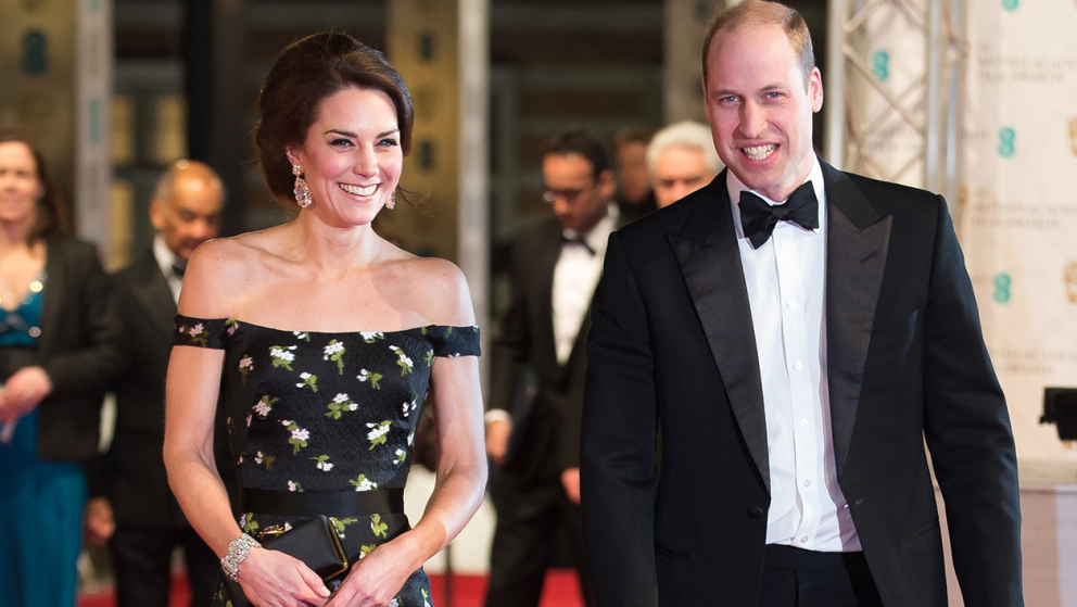 Kate Middleton et le prince William, stars des Bafta
