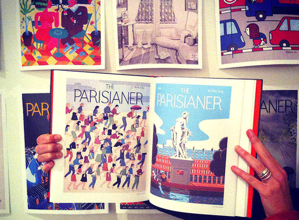 ''The Parisianer'', des illustrations de magazine esquissent Paris