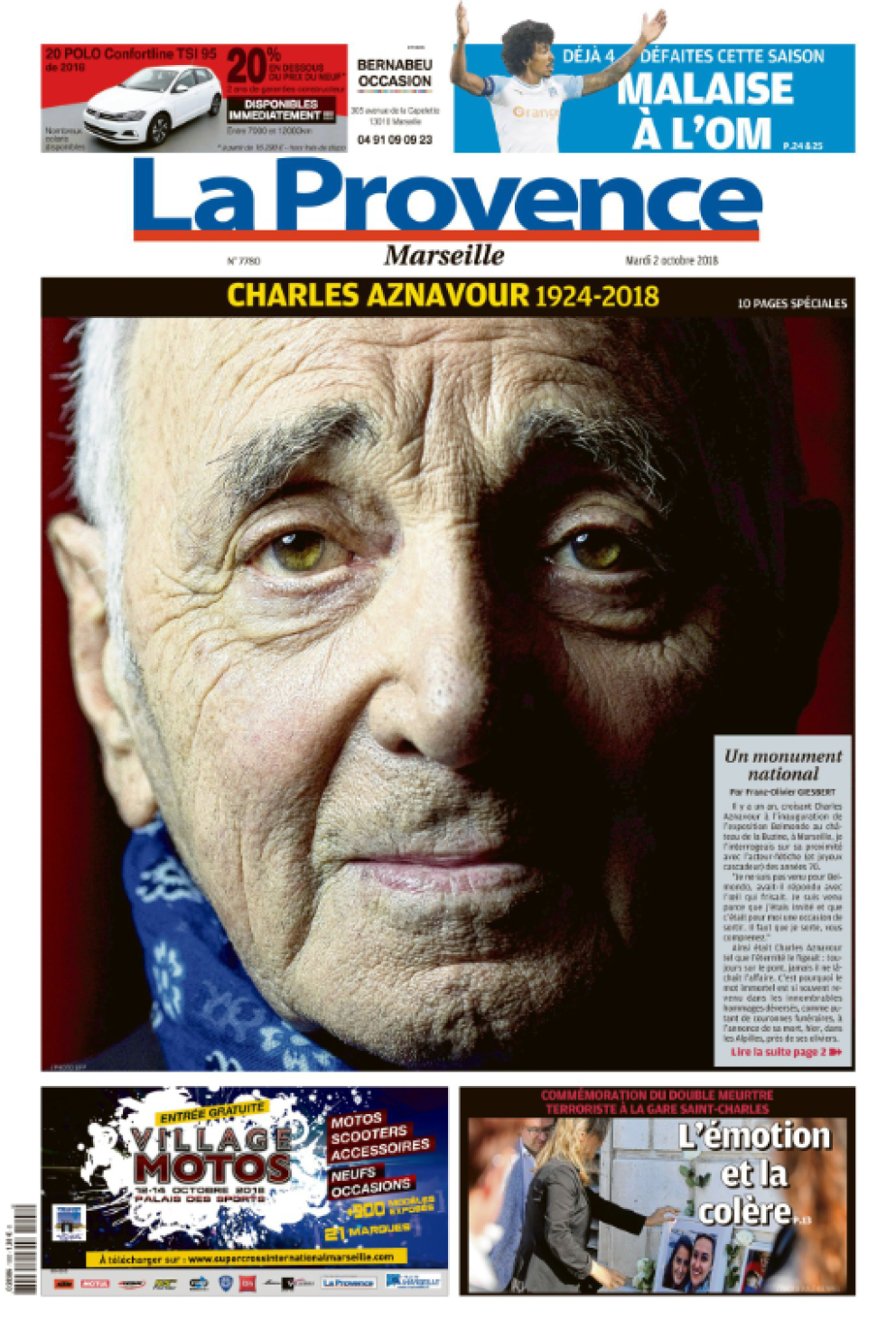 "Charles Aznavour, ""For me, formidable"""
